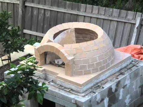 building  wood fired pizza oven youtube