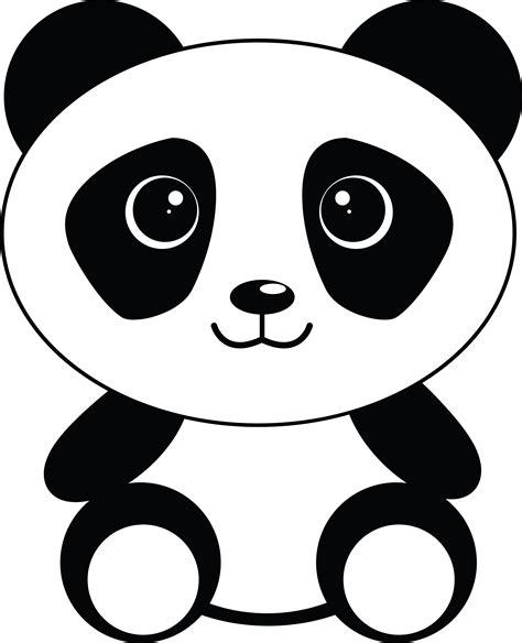 panda clipart free clipart of a sitting panda