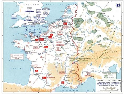 map of germany 1944 planning for operation overlord german dispositions on