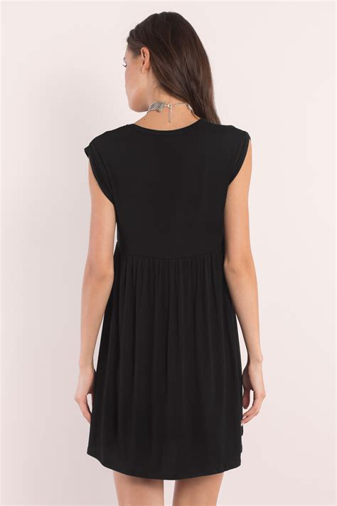 Dress Of The Day Jersey Babydoll by Black Dress Black Dress Babydoll Mini Dress Day