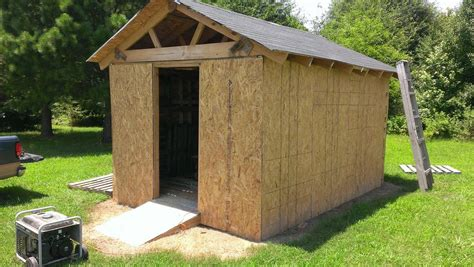 install roof  pallet garden shed toolmates hire