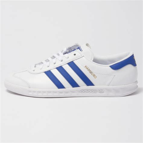 adidas hamburg white blue trainers shoes sale