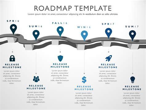 six phase strategic product timeline roadmap presentation