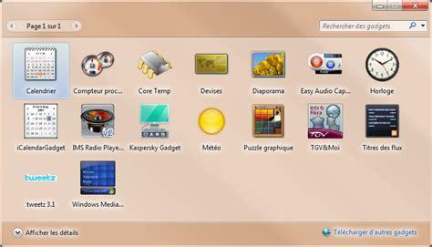 gadgets de bureau windows 7 gadget de bureau meteo 28 images afficher un gadget