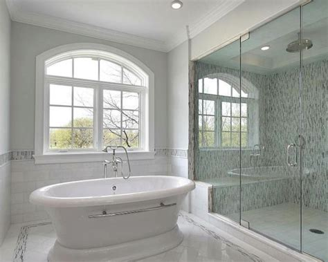 27 pictures of bathroom glass tile accent ideas