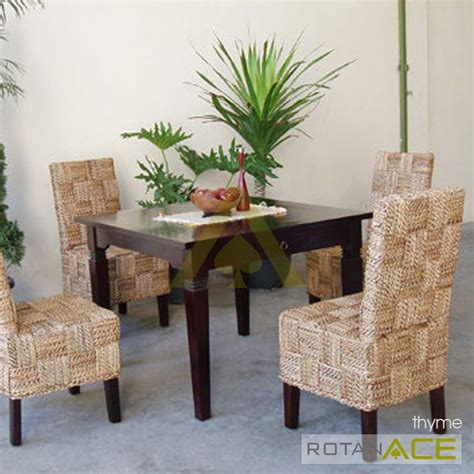 Meja Makan Ace Hardware jual thyme meja makan rotan set 4 seats harga lebih murah