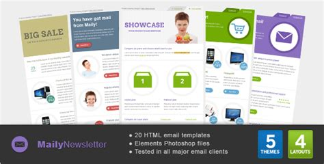 Best Email Templates On Themeforest For 2012 Themeforest Html Email Template