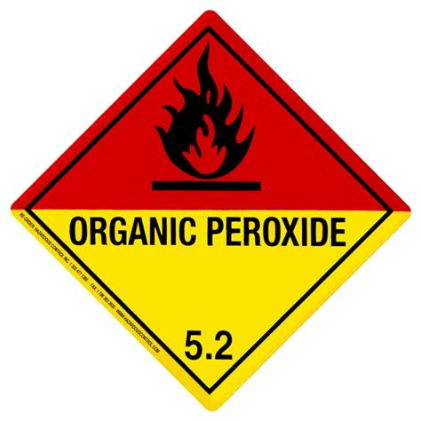 hazardous dot hazmat labels class 5 2 hazmat