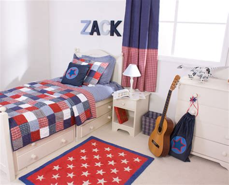 boys blue and red bedroom childrens bed linen from linen lace and patchwork