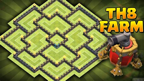 coc th8 layout with air sweeper clash of clans new update best th8 farming base coc