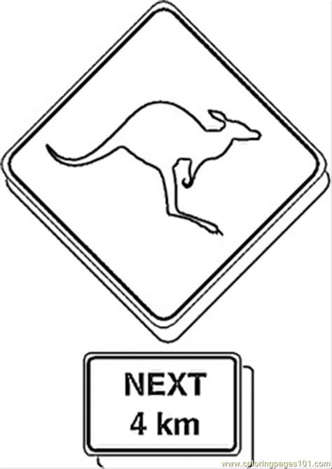 sign on the road coloring page free australia coloring