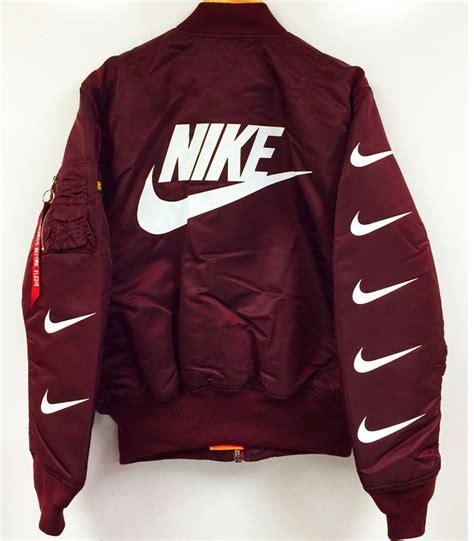 Jaket Nike Black Maroon Babeterry nike ma 1 bomber jacket maroon