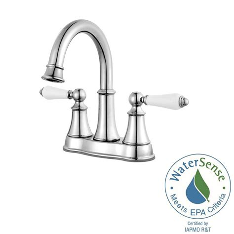white high arc kitchen faucet home depot at stems cabinets pfister courant 4 in centerset 2 handle high arc bathroom