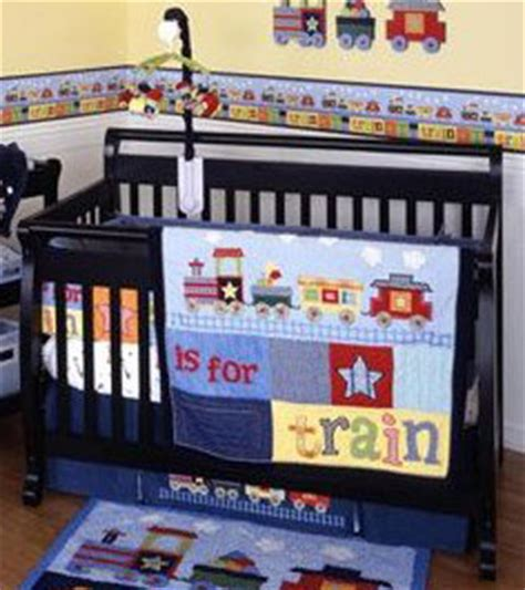 train crib bedding t is for train baby crib bedding 6 piece set by kidsline