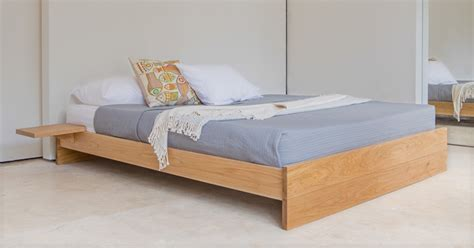 enkel platform bed  headboard  laid beds