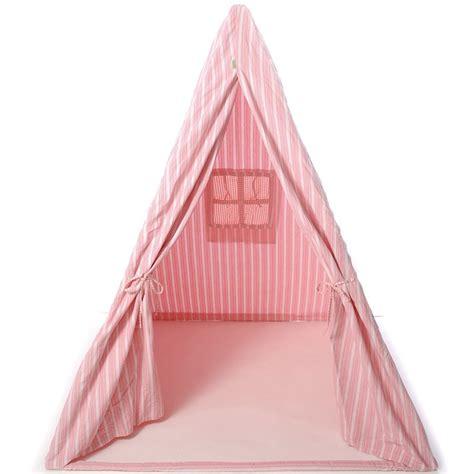 spielzelt stoff h 252 bsches wigwam indianerzelt f 252 r m 228 dchen aus stoff rosa