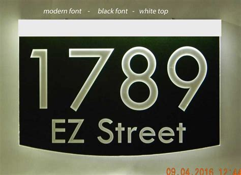 Address Plaques That Light Up - light up wall mount address plaque 8 quot x 12 quot