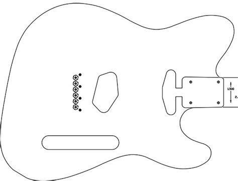 tele guitar templates for crafts
