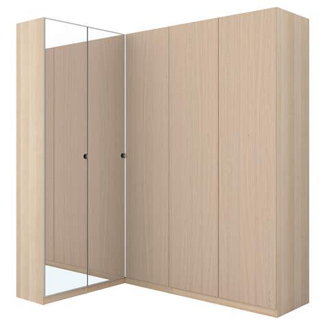 Ikea Corner Pax Wardrobe by Pax Corner Wardrobe White Stained Oak Effect Nexus Vikedal 160 188x236 Cm Ikea