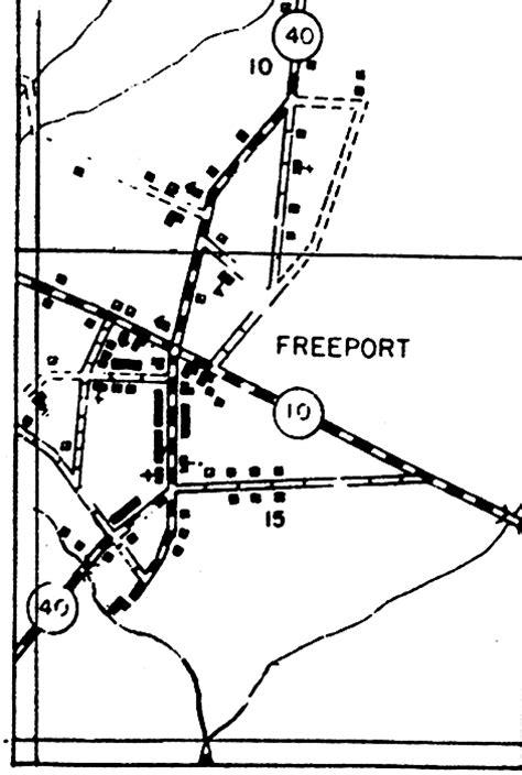 freeport florida map freeport insert 1936