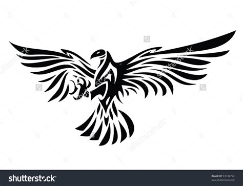 tribal eagle tattoo designs tribal eagle vector illustration eagle symbol
