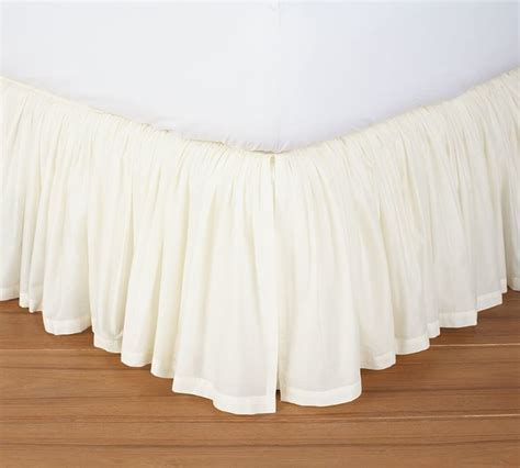 pottery barn bed skirt pottery barn voile bed skirt shopstyle home