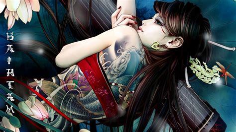 hd themes girl anime girl tattoo wallpaper 7004510