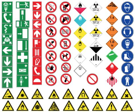 printable european road signs health and safety signs free vector free vectors