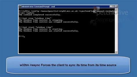 microsoft windows setting server  domain time  ntp