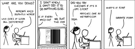 gets eaten out by barcode glitch by brakos82 xkcd slightly worse