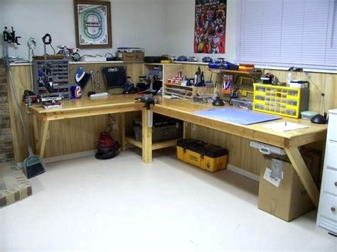 best garage workbench garage workbench ideas l shape garage workbench ideas