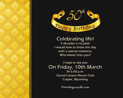 50 birthday invitation templates 50th birthday invitation wording template all