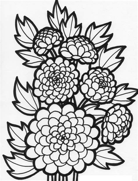 flower coloring pages for girls 10 and up coloring home