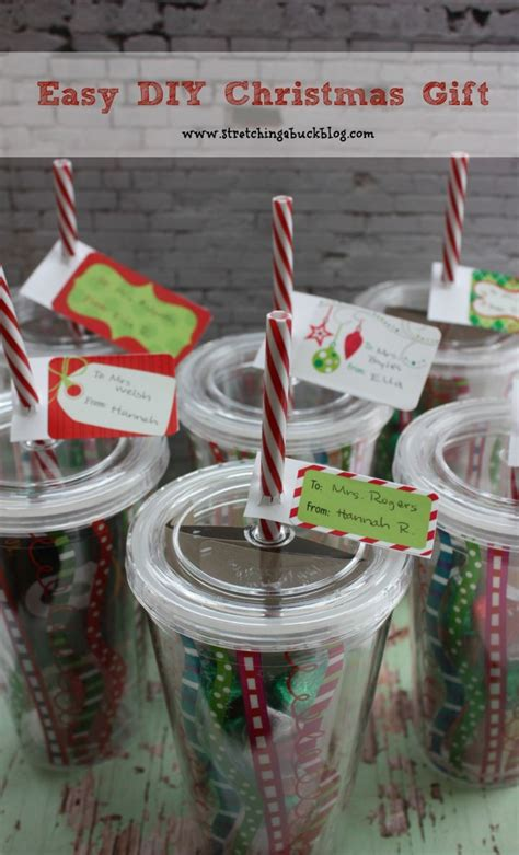 easy diy christmas tumblers filled with a gift card