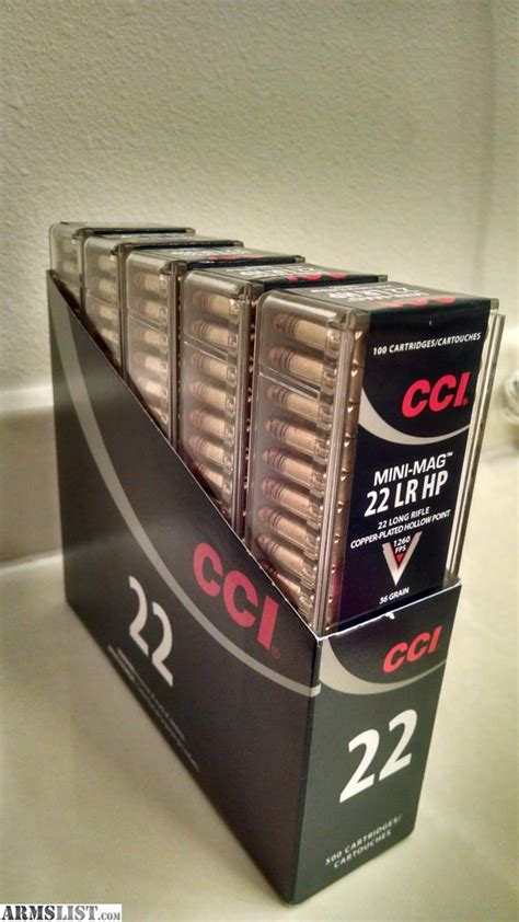 cci mini mag 22 lr copper plated hollow point armslist for sale 22 lr 100 round box cci mini mag