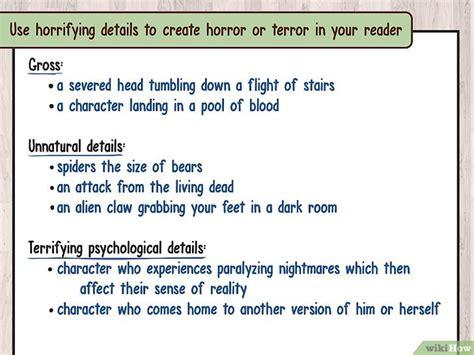 testo horror c 243 mo escribir una historia de horror 19 pasos
