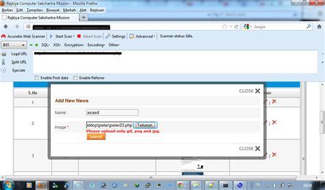 xss shell tutorial tutorial upload shell backdoor di website dengan ter data