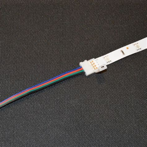 Soldering Led Light Strips 5050 Rgb Colour Changing Led Light Solder Less Connector End Wire