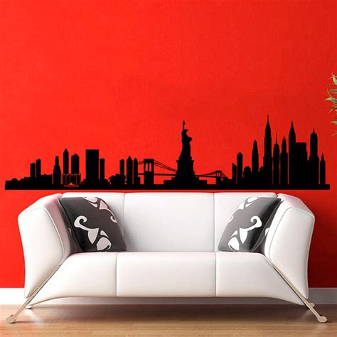 new york city wall sticker new york skyline city silhouette wall decal vinyl stickers