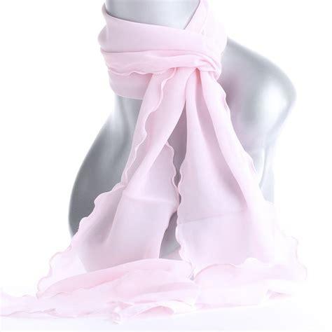 light pink chiffon scarf hair barrettes combs