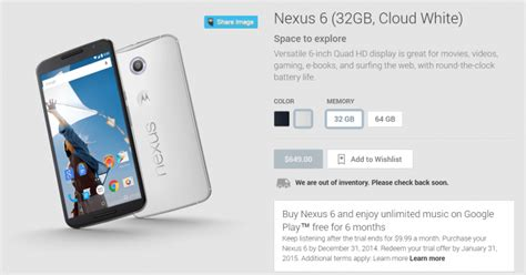 psa oem unlock on the nexus 6 and 9 requires checking a psa the google nexus 6 is now available to pre order