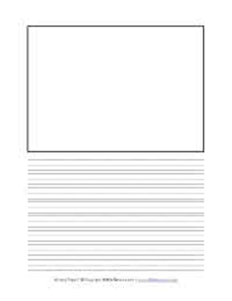 blank writing paper with picture box primary handwriting paper all network