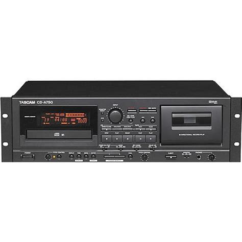 cd and cassette player tascam cd a750 rackmount cd player cassette recorder cd