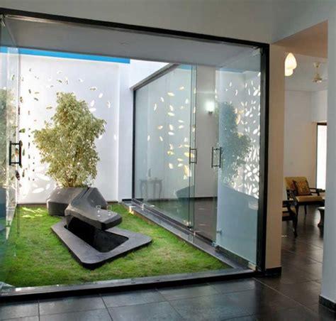 eco friendly house design  indoor garden  glass