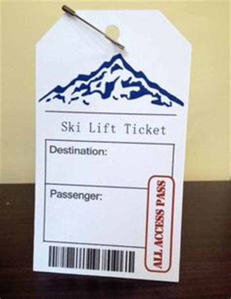Ticket Place Card Template by Ski Lift Ticket Wedding Printable Place Cards
