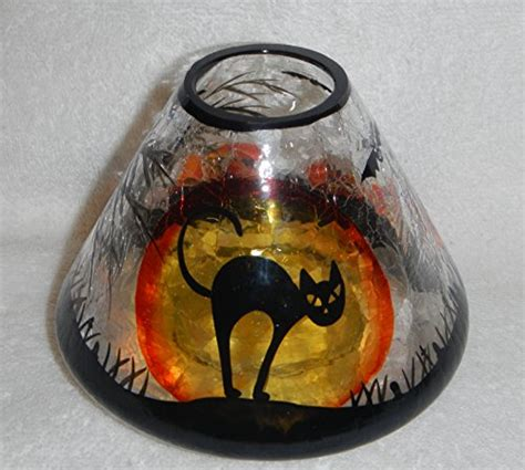 yankee candle l shades yankee candle black cat halloween large crackle glass l