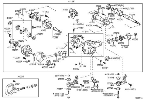 1999 toyota tacoma parts diagram 1999 toyota tacoma front axle housing differential