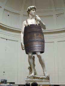 statue of david statue of david wearing a barrel pictures freaking news