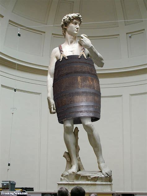statue of david funny barrel pictures freaking news
