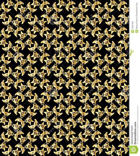 pattern black gold gold pattern on black background 3 stock vector image